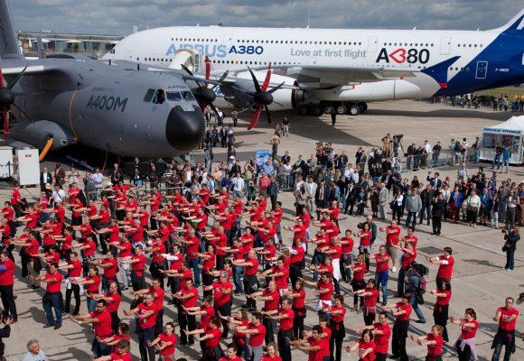 Flashmob Airbus au Salon du Bourget : opération de recrutement fun